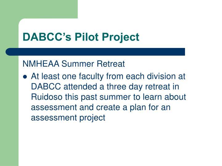 DABCC's Pilot Project