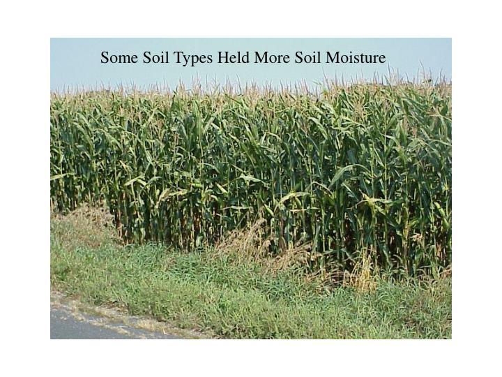 Some Soil Types Held More Soil Moisture