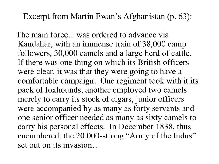 Excerpt from Martin Ewan's Afghanistan (p. 63):