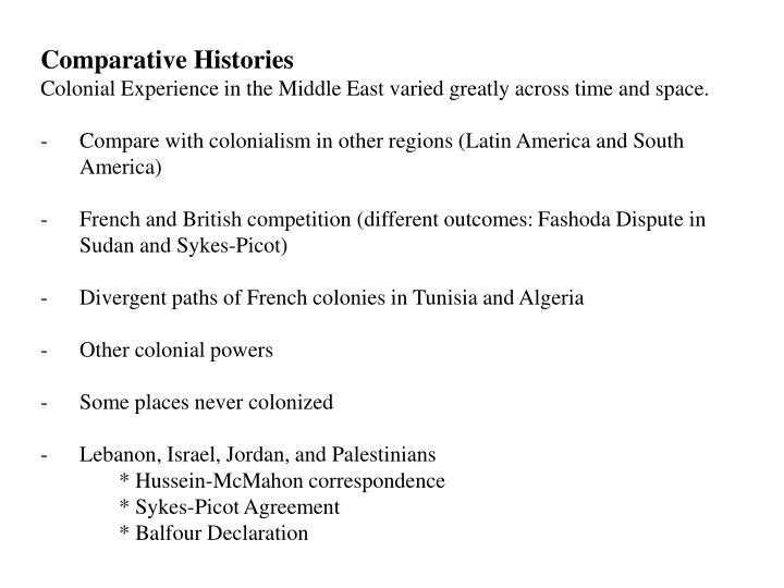 Comparative Histories