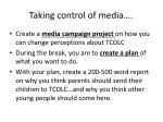 taking control of media