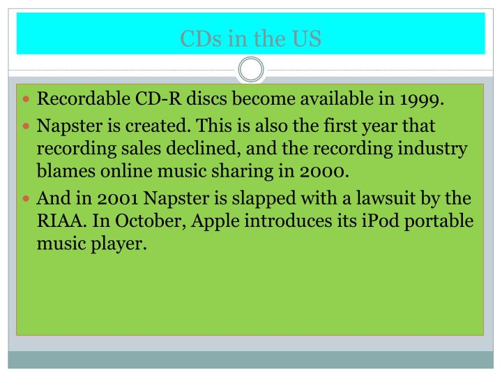 CDs in the US