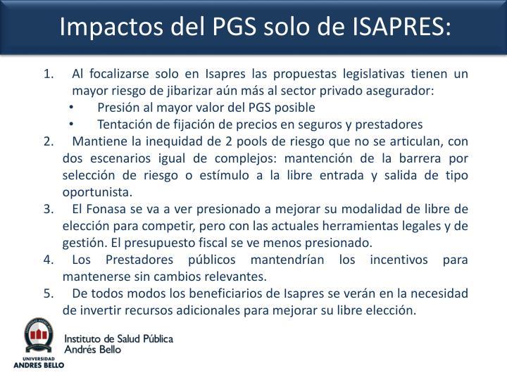 Al focalizarse solo en Isapres las propuestas legislativas tienen un mayor riesgo de jibarizar aún más al sector privado asegurador: