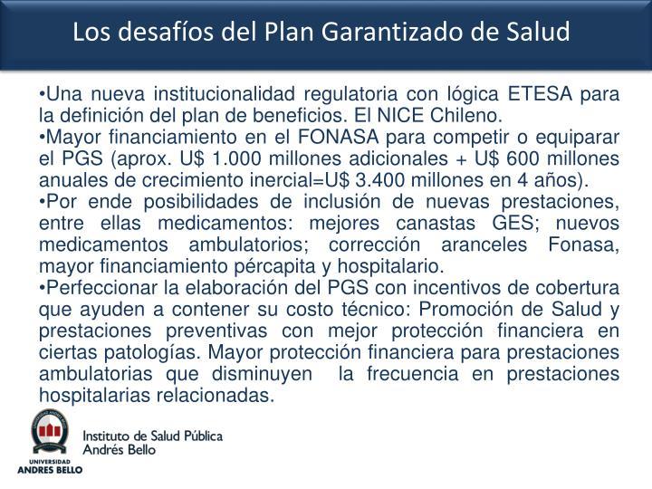 Una nueva institucionalidad regulatoria con lógica ETESA para la definición del plan de beneficios. El NICE Chileno.