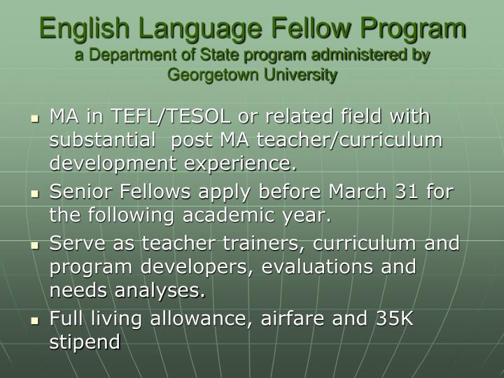 English Language Fellow Program