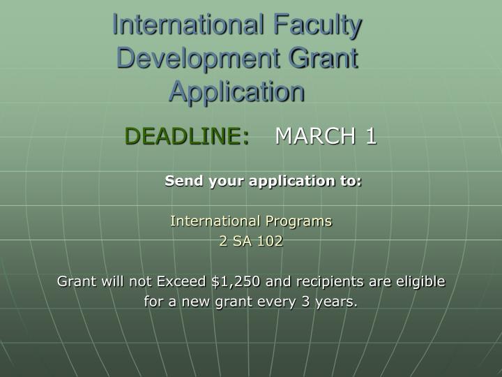 International Faculty Development Grant