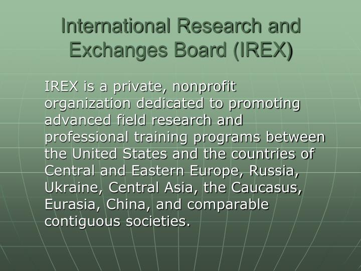 International Research and