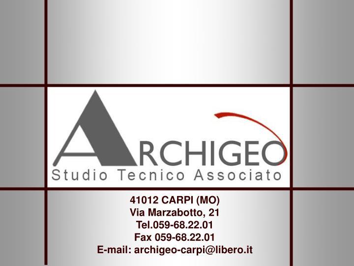 41012 CARPI (MO)