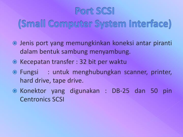 Port SCSI