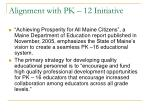 alignment with pk 12 initiative