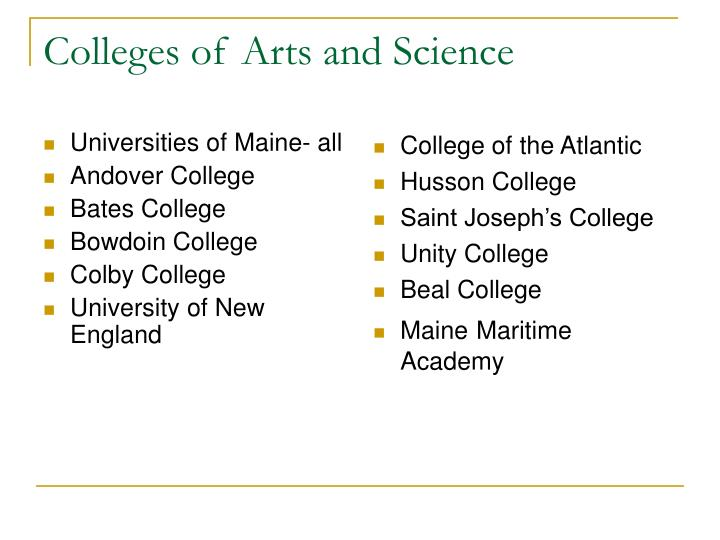 Universities of Maine- all