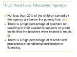 high need local educational agencies