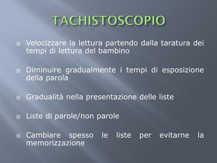 TACHISTOSCOPIO
