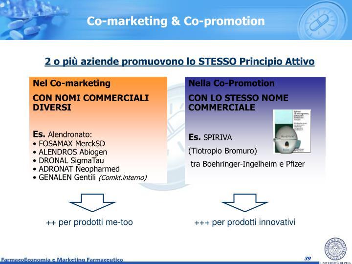 Co-marketing & Co-promotion