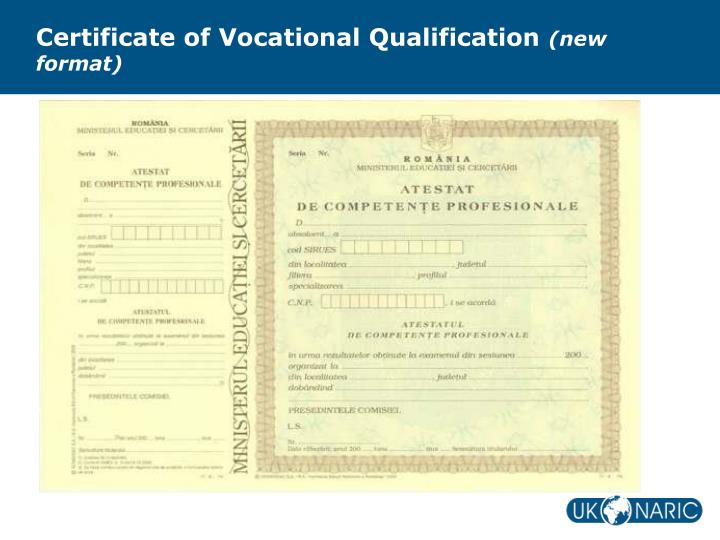 Certificate of Vocational Qualification