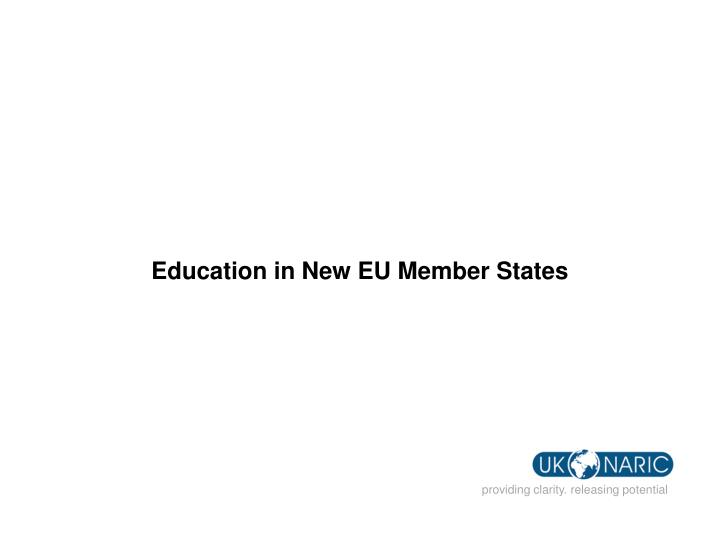 Education in New EU Member States