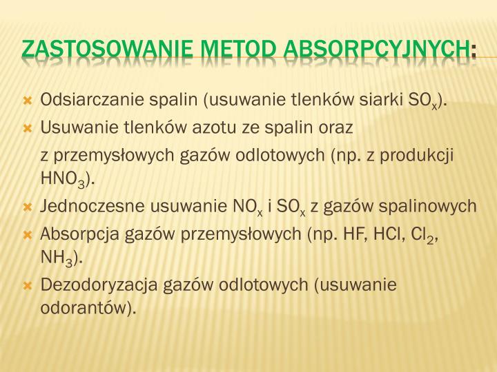 Odsiarczanie spalin (usuwanie tlenków siarki