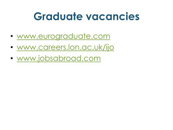 Graduate vacancies