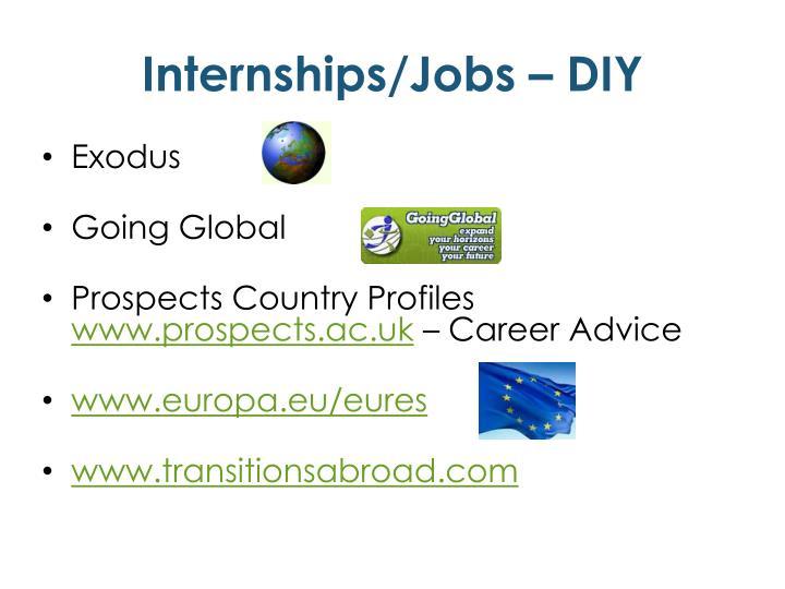 Internships/Jobs – DIY
