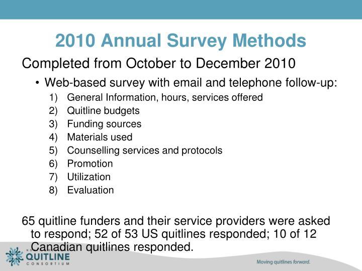 2010 Annual Survey Methods