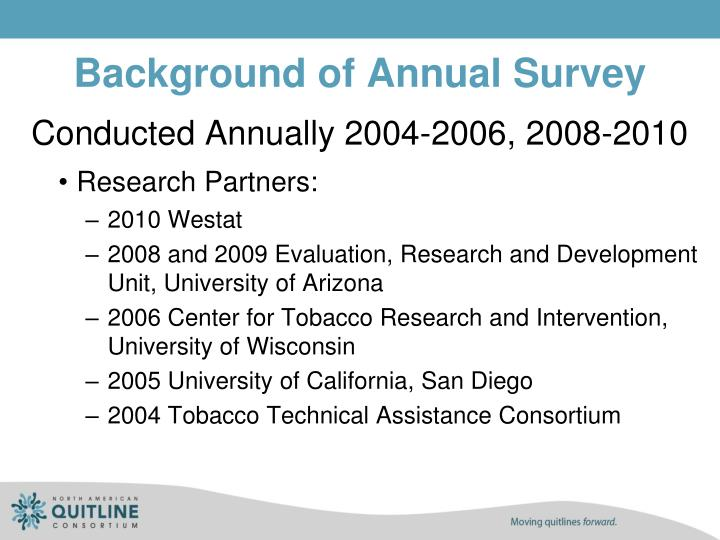 Background of Annual Survey