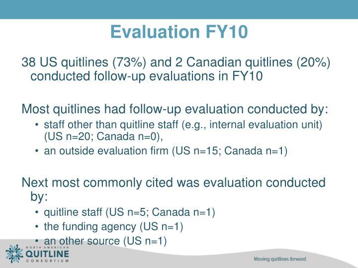 Evaluation FY10