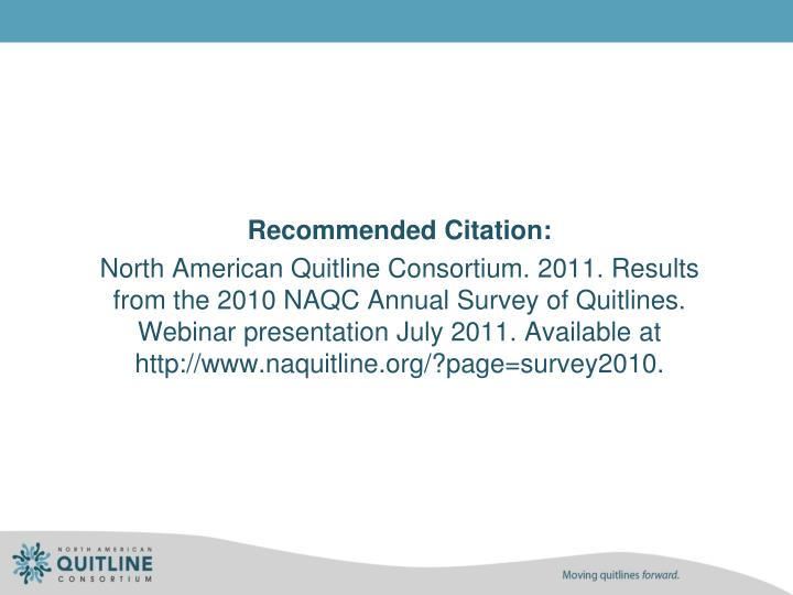 Recommended Citation: