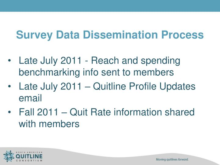 Survey Data Dissemination Process