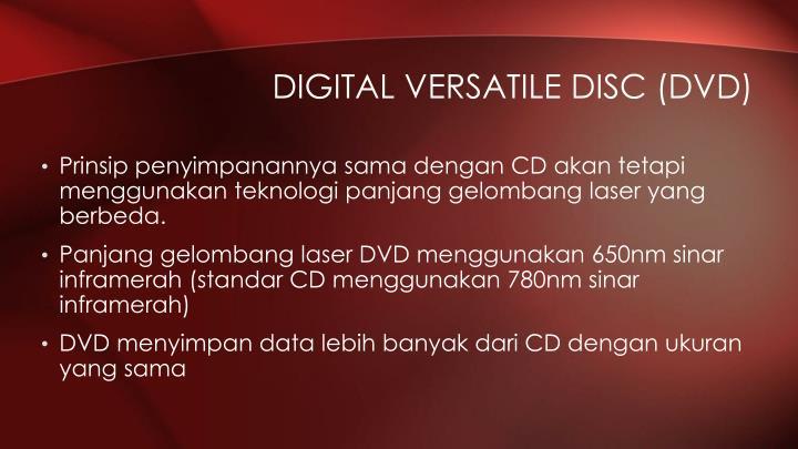 Digital Versatile Disc (DVD)