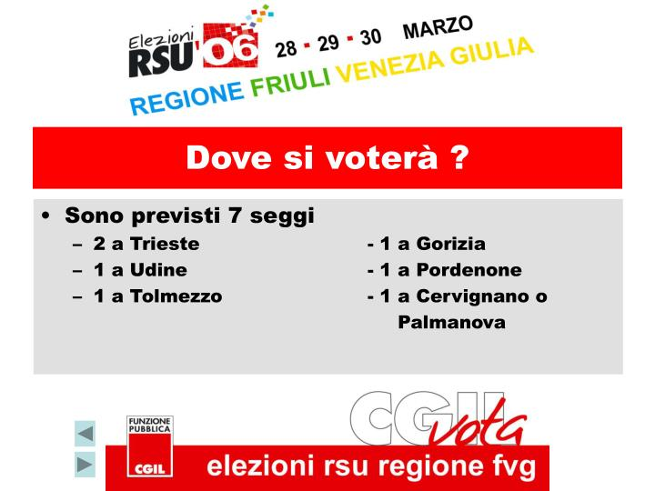 Dove si voterà ?
