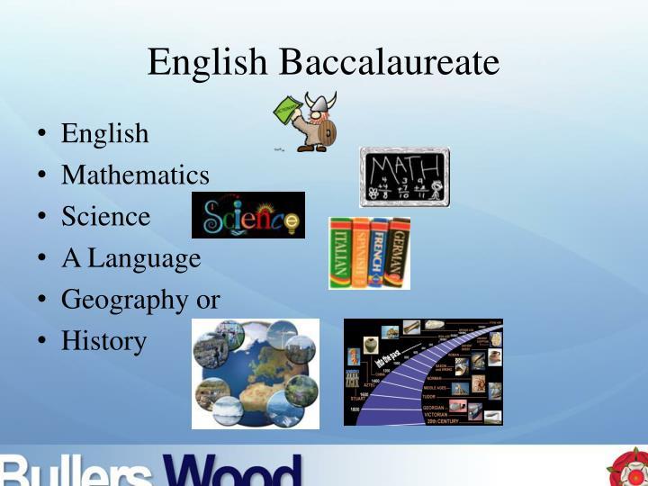 English Baccalaureate
