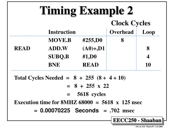 Timing Example 2