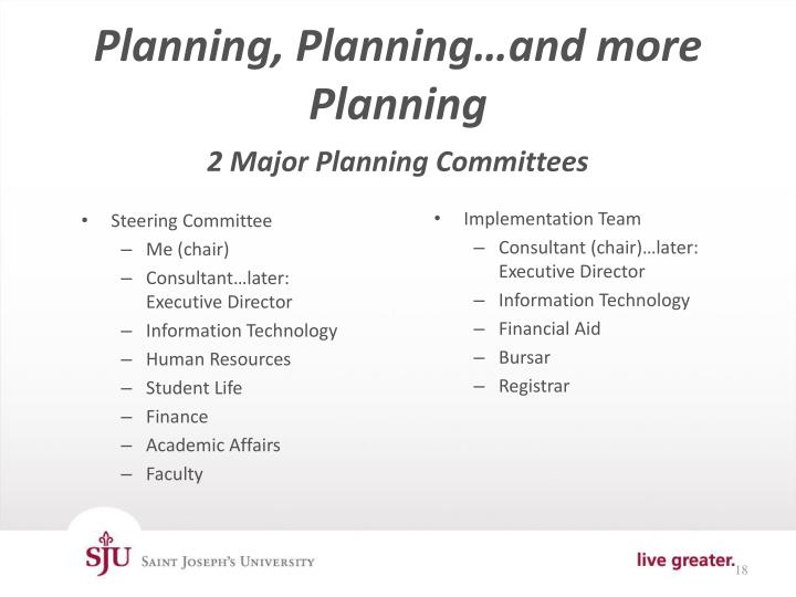 Planning, Planning…and more Planning