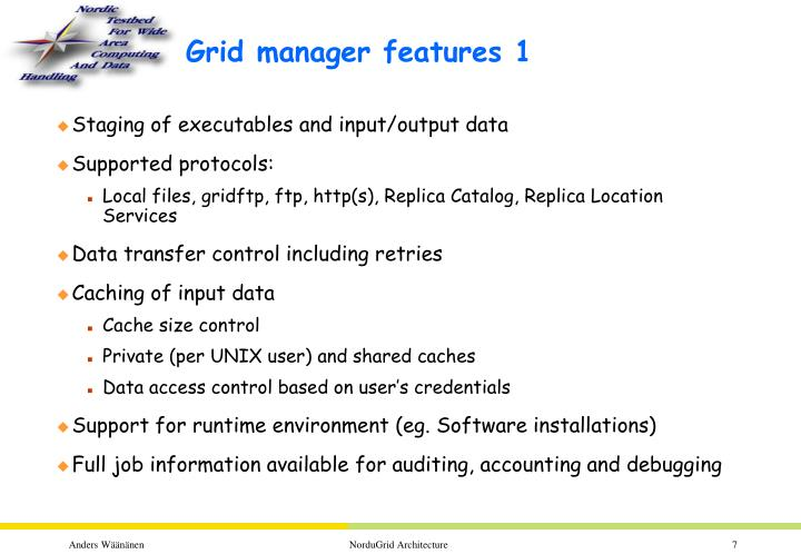 Grid manager features 1