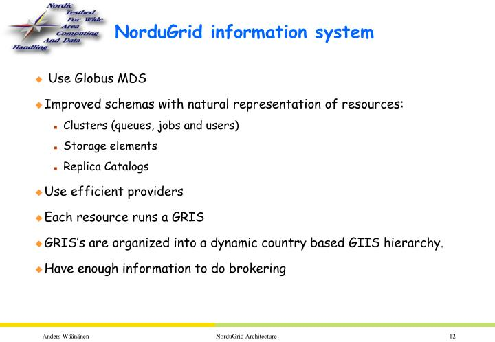NorduGrid information system