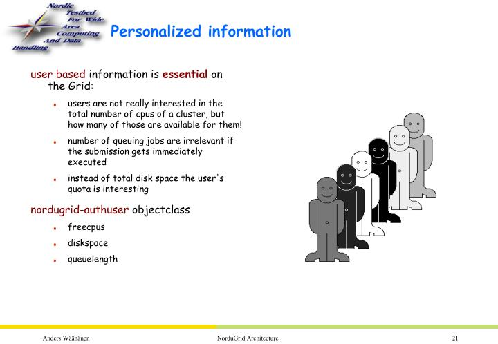 Personalized information