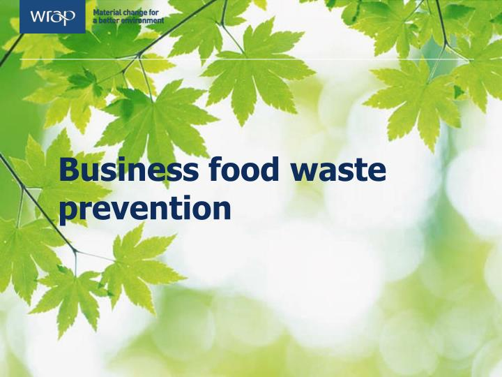 Business food waste prevention