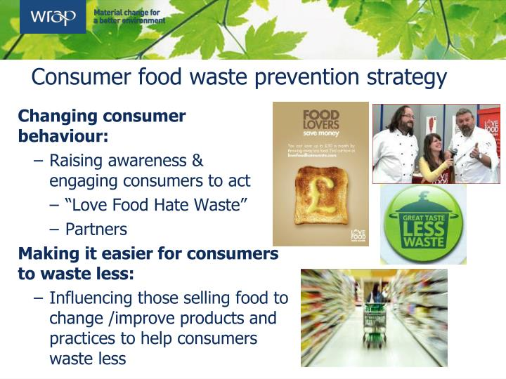 Consumer food waste prevention strategy