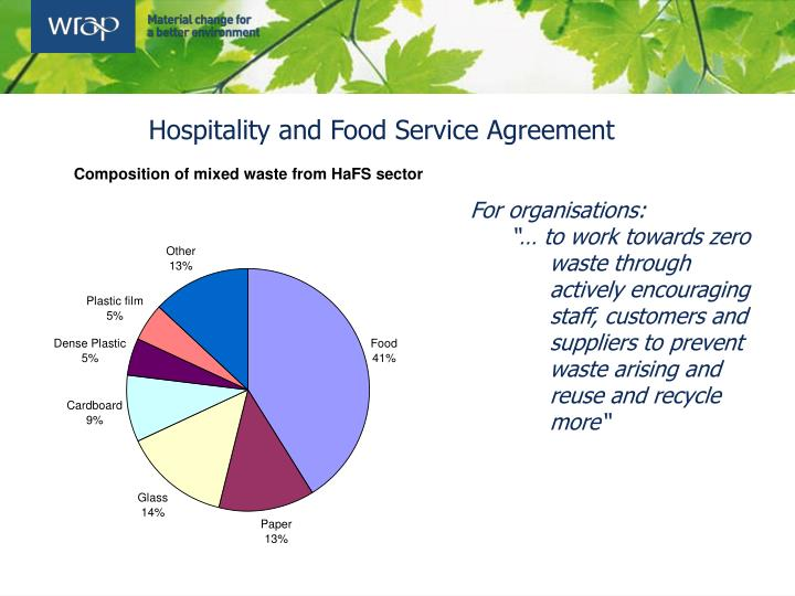 Hospitality and Food Service Agreement