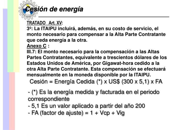 Cesión de energía