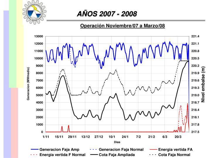 AÑOS 2007 - 2008