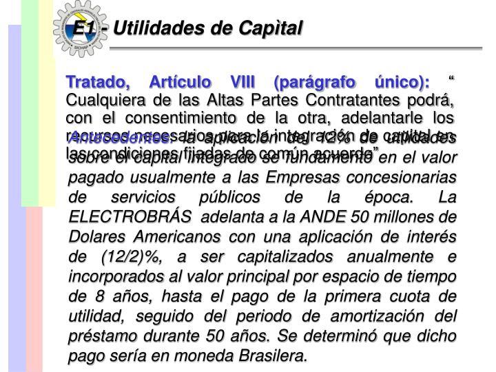 E1 - Utilidades de Capìtal