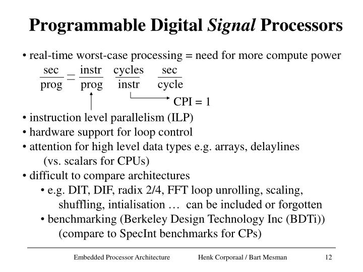 real-time worst-case processing = need for more compute power