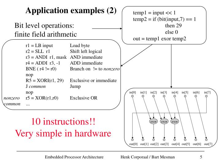 Application examples (2)