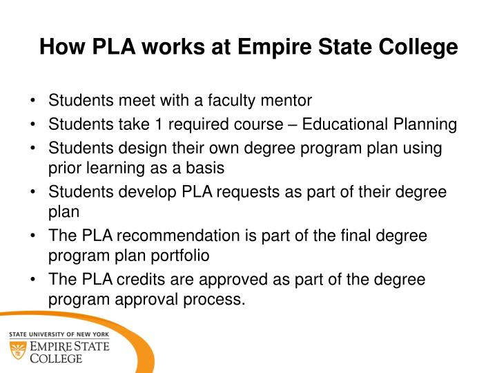How PLA works at Empire State College