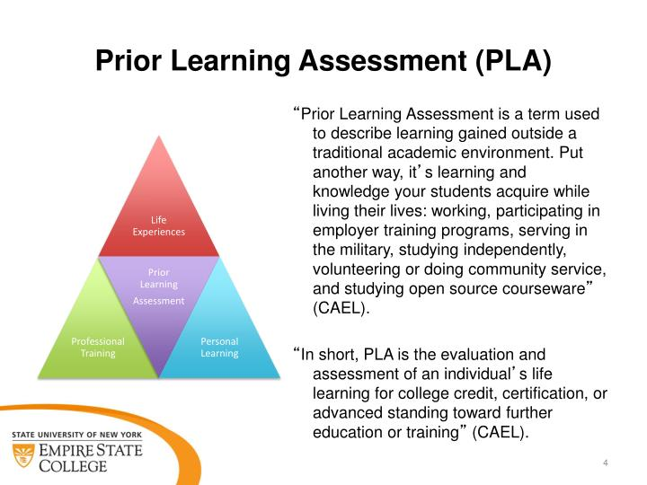 Prior Learning Assessment (PLA)
