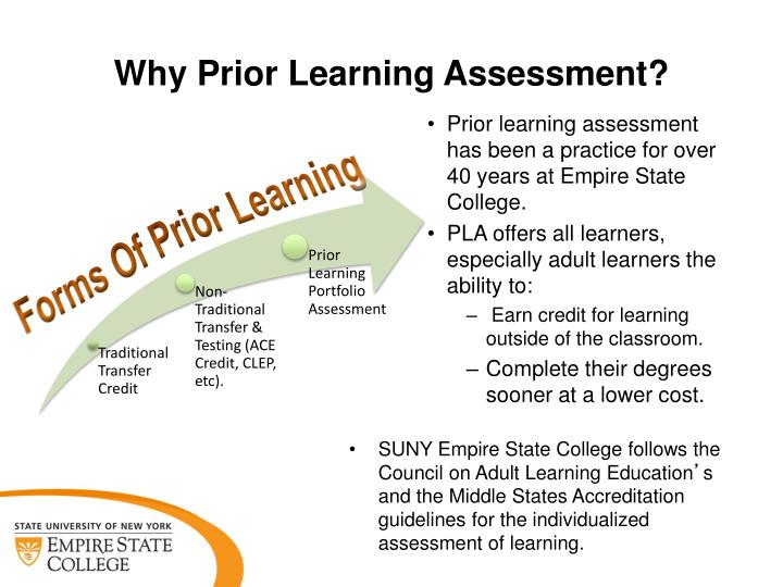 Why Prior Learning Assessment?