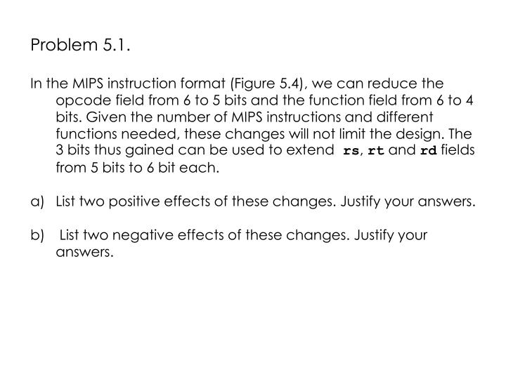 Problem 5.1.