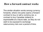 how a forward contract works2