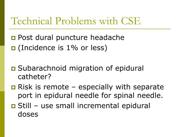 Technical Problems with CSE